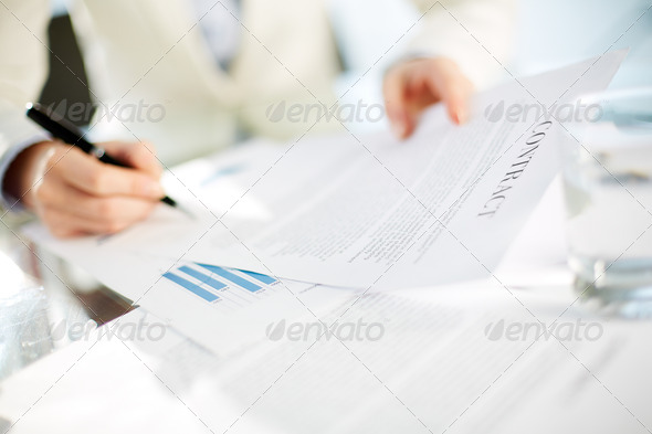 Signing contract - Stock Photo - Images