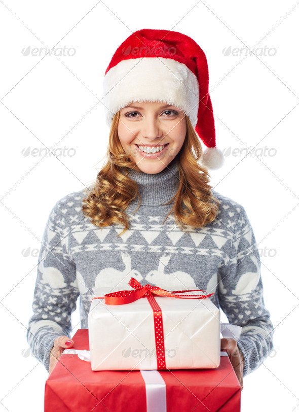 Christmas surprise - Stock Photo - Images