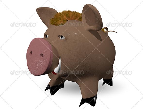 GraphicRiver wild boar 6374409
