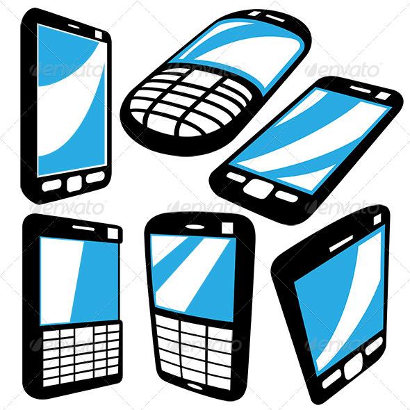 GraphicRiver Cellphone Set 6374429
