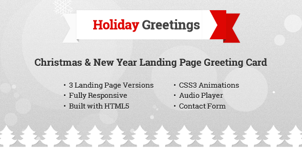 ThemeForest Holiday Greetings Landing Page Greeting Card 6372085