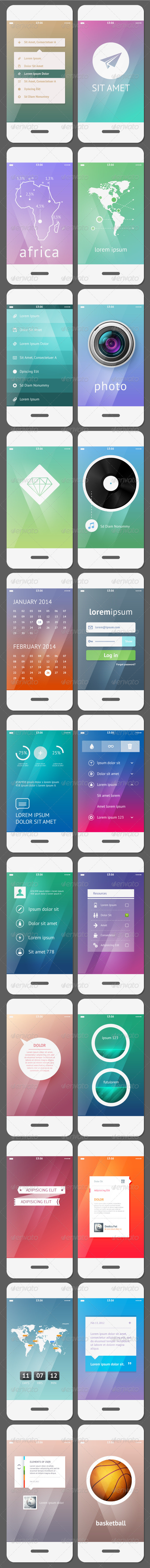 GraphicRiver Mobile User Interface Template 6374852