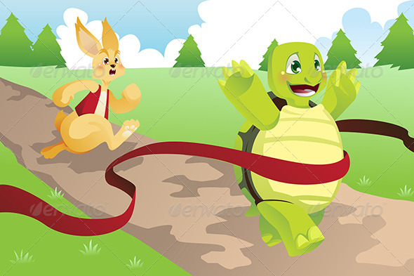 GraphicRiver Tortoise and Hare 6374854