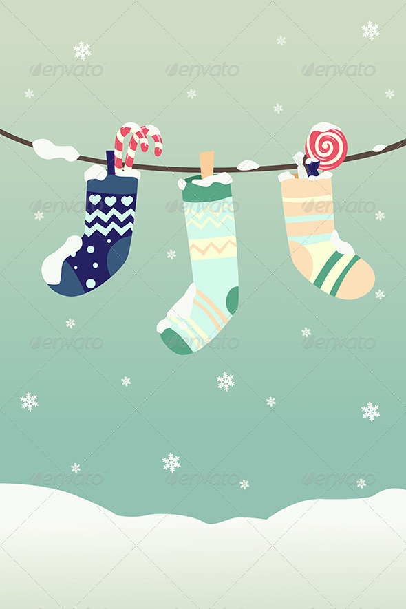 GraphicRiver Winter Christmas Stockings 6374910