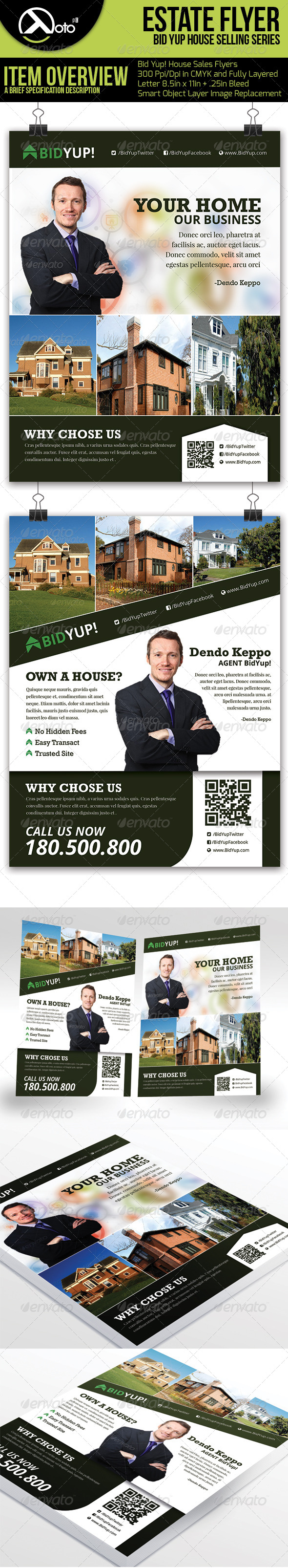 GraphicRiver Bid Yup Estate Selling Flyers 6374972