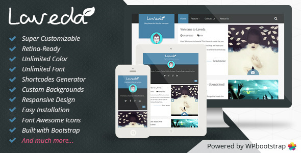 ThemeForest Laveda Retina Responsive WordPress Blog Theme 6373227