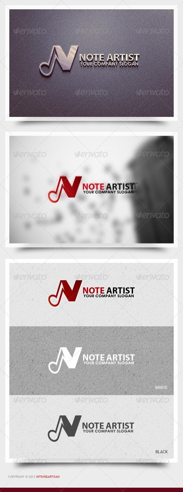 GraphicRiver Note Artist Logo Template 6375008