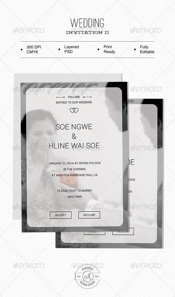 GraphicRiver Wedding Invitation II 6375062