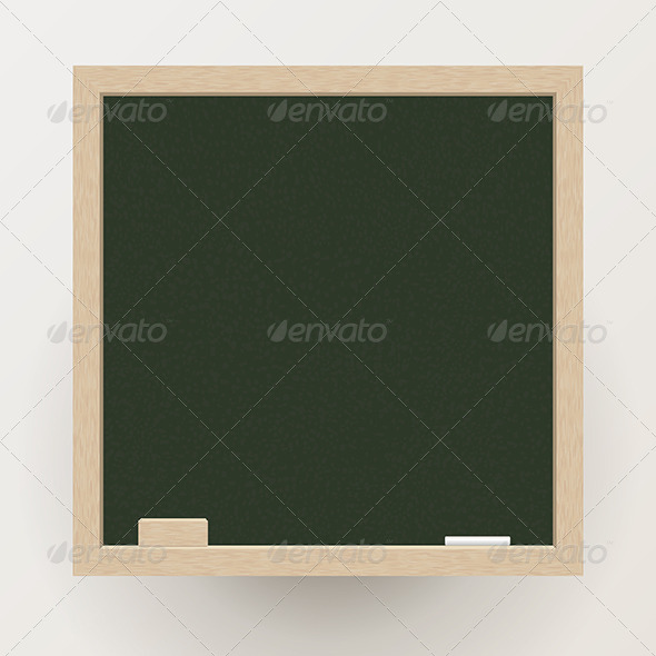 GraphicRiver Blackboard with Chalk and Eraser 6375141