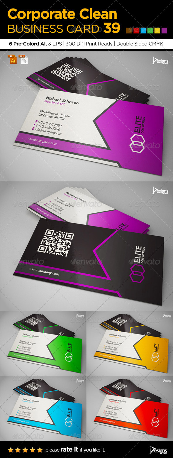 GraphicRiver Corporate Clean Business Card 39 6375232
