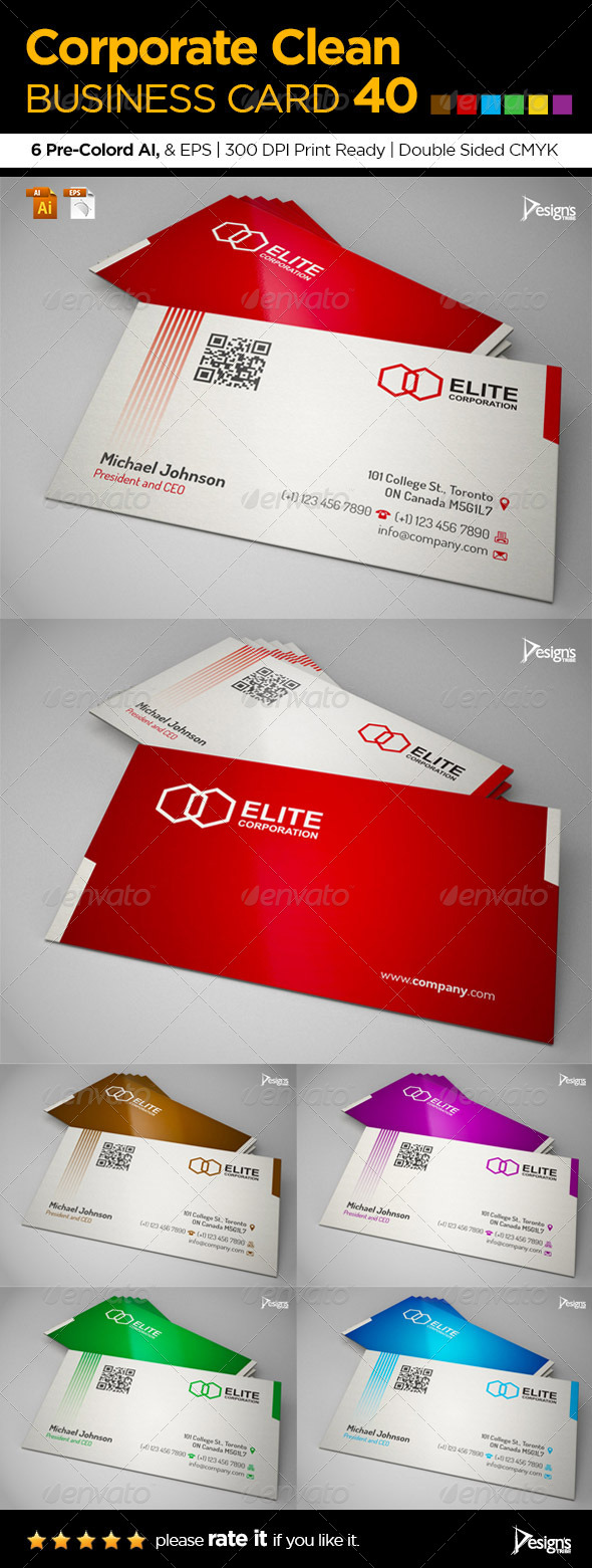 GraphicRiver Corporate Clean Business Card 40 6375291