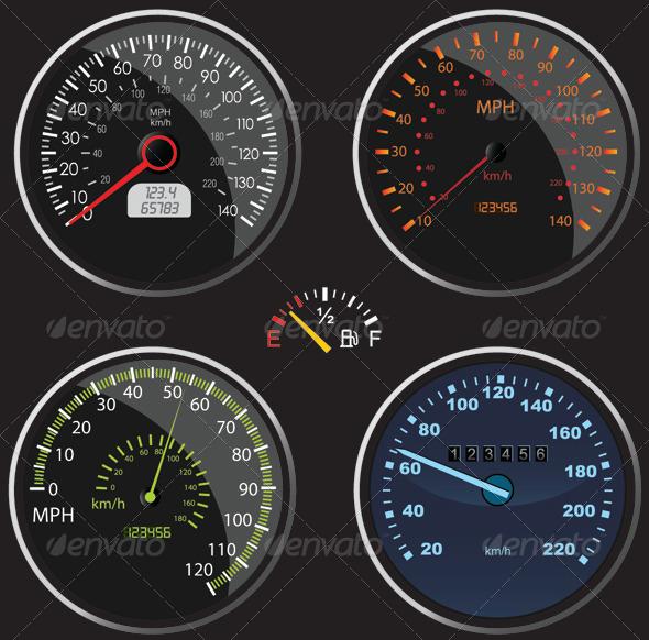GraphicRiver Speedometers Vectors 6369340