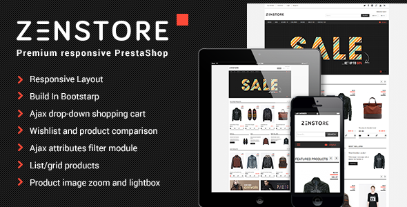 ThemeForest Zenstor Responsive Multipurpose PrestaShop Theme 6375728