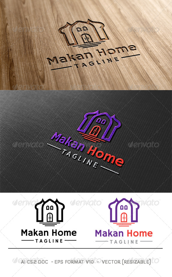 GraphicRiver Makan Home Logo 6376194