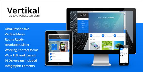 ThemeForest Vertikal Multipurpose HTML5 Template 6369349