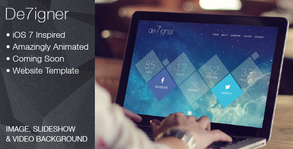 ThemeForest De7igner Flat iOS7 Inspired OnePage Parallax WP 6376541