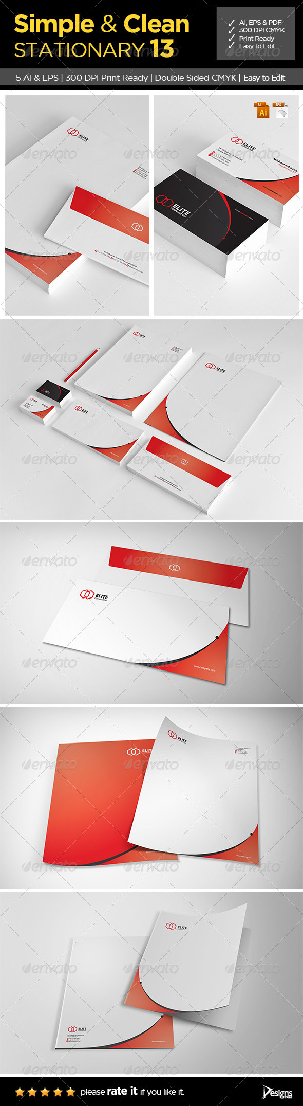 GraphicRiver Simple and Clean Stationary 13 6339094