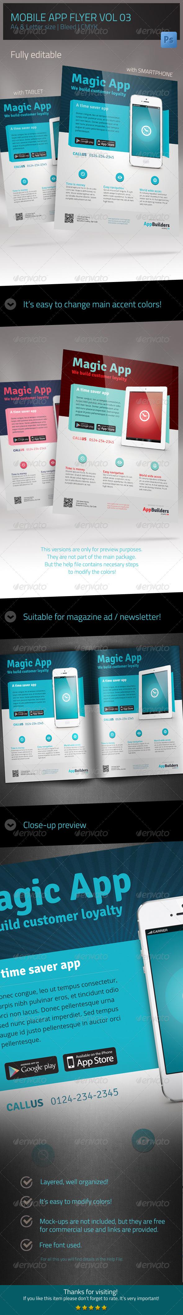 Mobile App Flyer V03