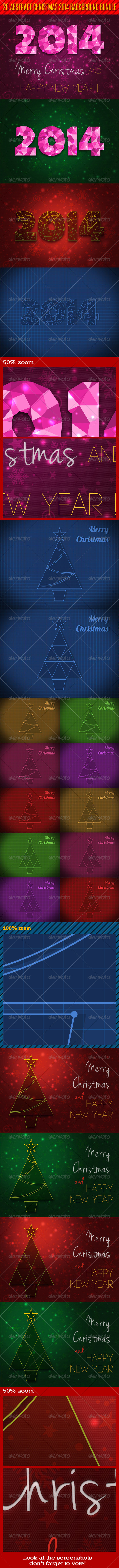 GraphicRiver 20 Abstract Christmas 2014 Background Bundle 6376783