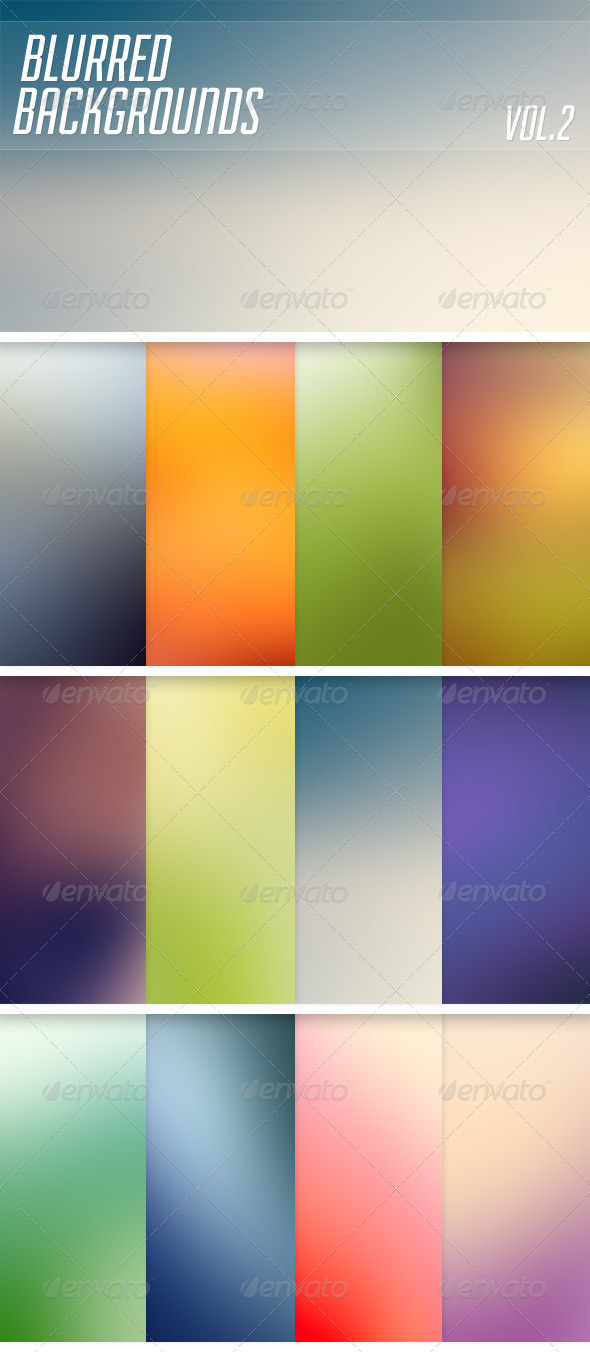 GraphicRiver Blurred Backgrounds Vol2 6377055