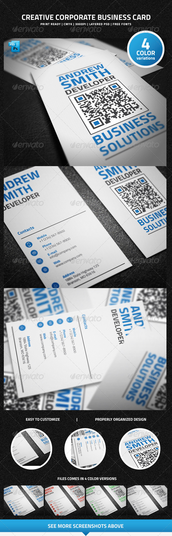 GraphicRiver Creative Corporate Business Card 6377134