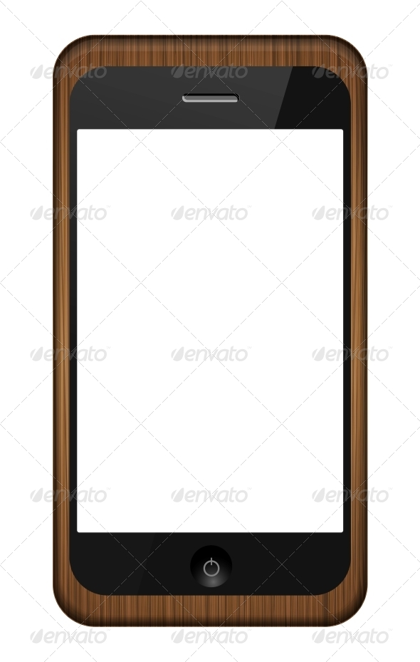 GraphicRiver Vector Smartphone in a Wooden Cover 6377643