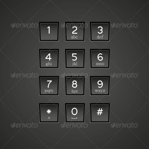 GraphicRiver Phone Keypad Background 6377962
