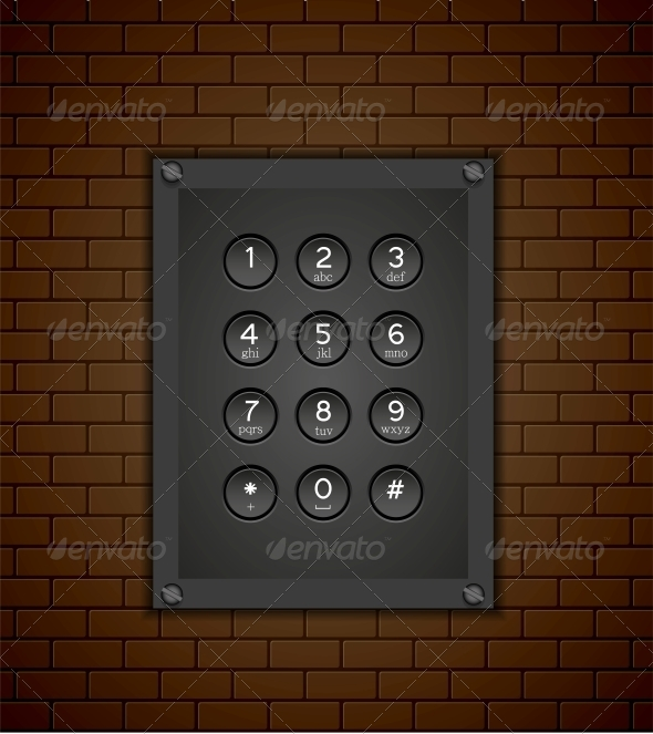 GraphicRiver Phone Keypad on Brick Background 6377970