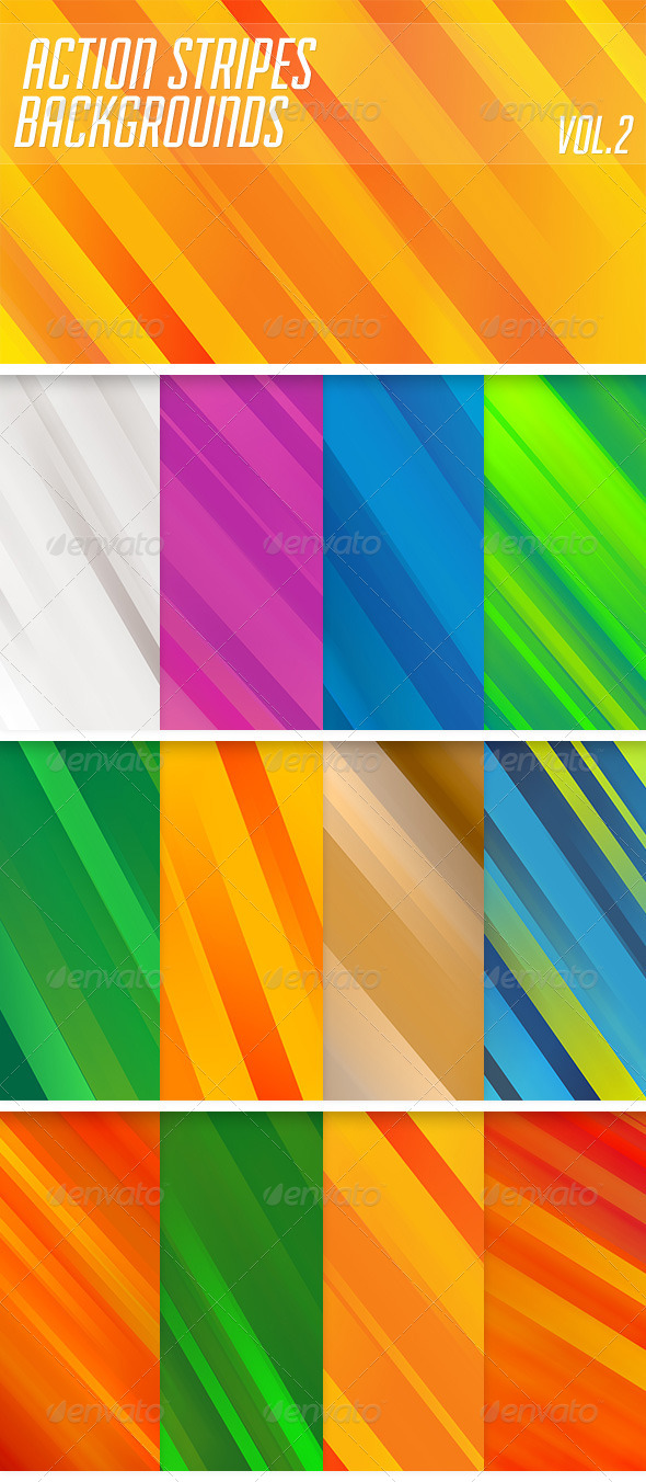 GraphicRiver Action Stripes Backgrounds Vol2 6378140