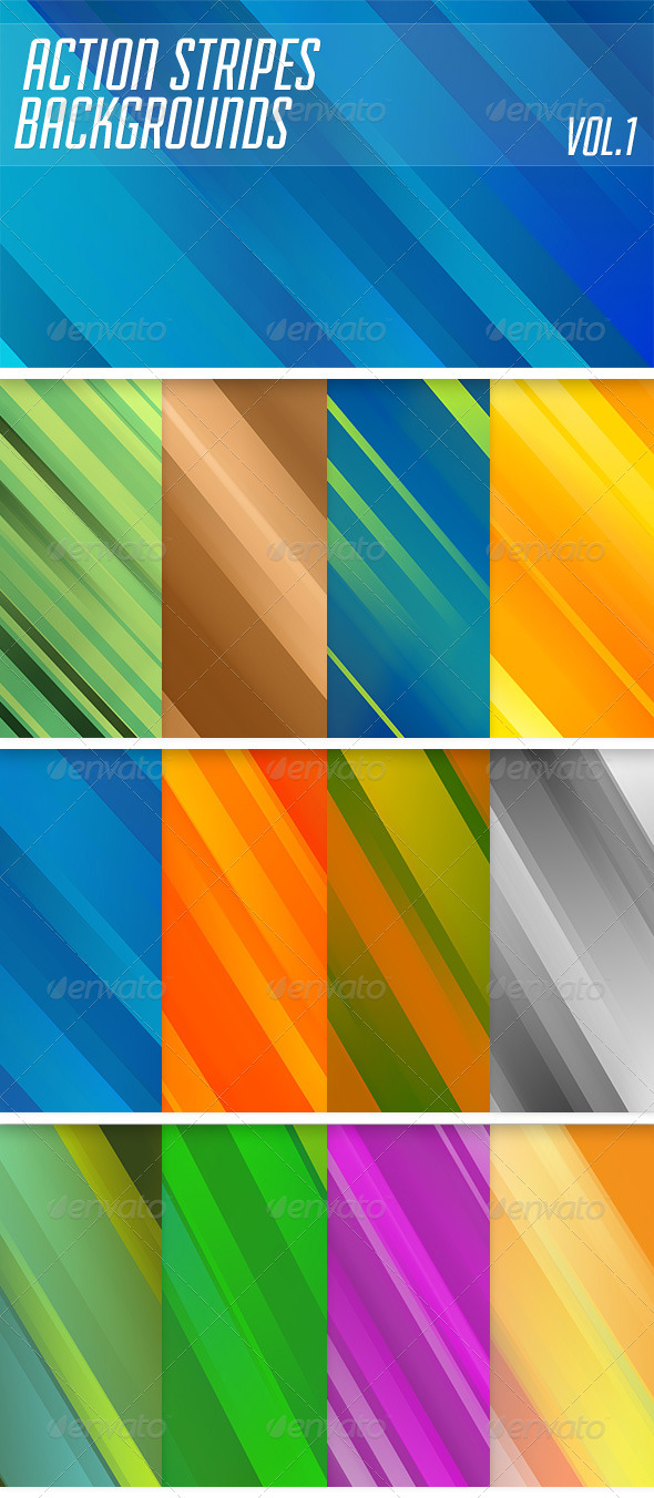 Action Stripes Backgrounds