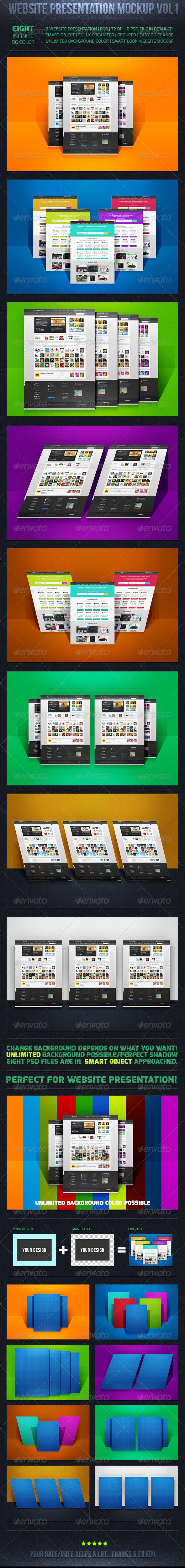 GraphicRiver Web Presentation Mockup Vol-1 6378692