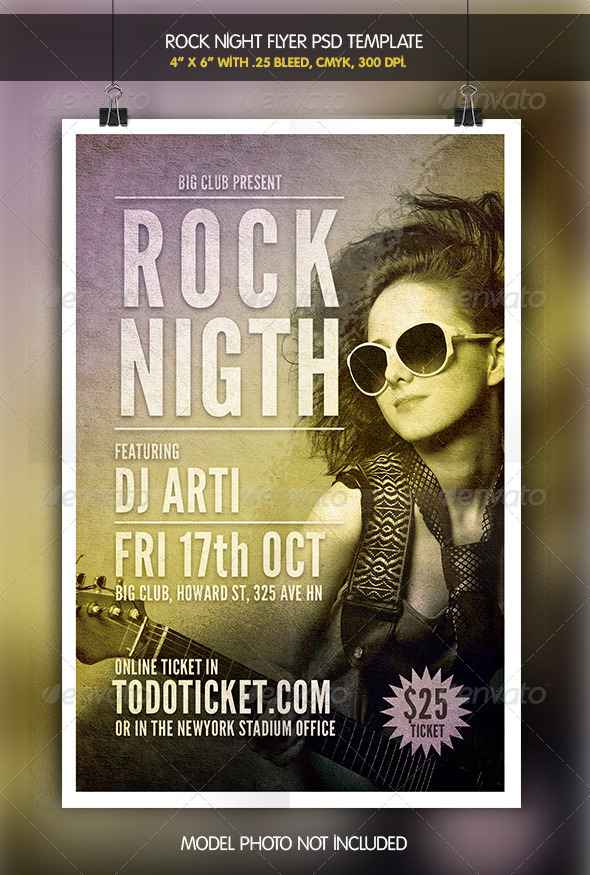 GraphicRiver Rock Night Flyer Template 6342232
