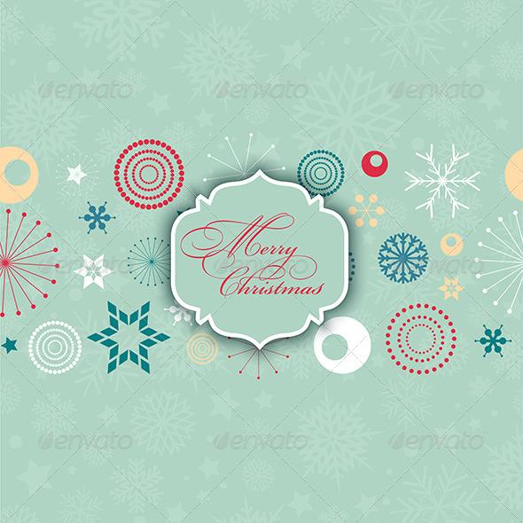 GraphicRiver Retro Christmas Background 6378884