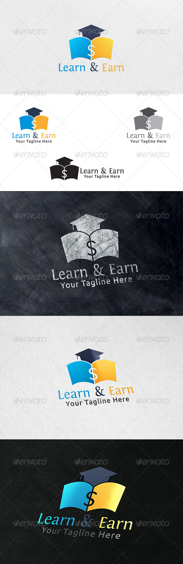 GraphicRiver Learn and Earn Logo Template 6378965