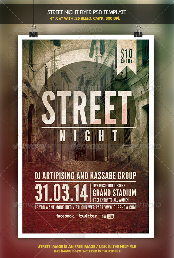GraphicRiver Street Night Flyer Template 6342197