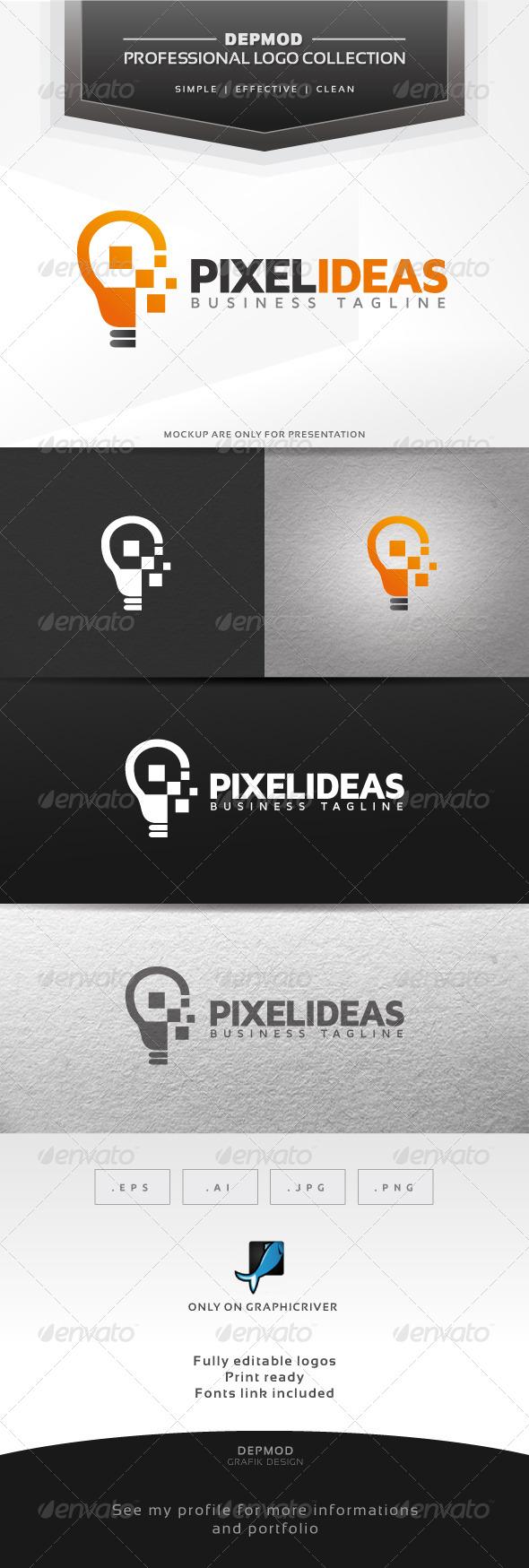 GraphicRiver Pixel Ideas Logo 6378989