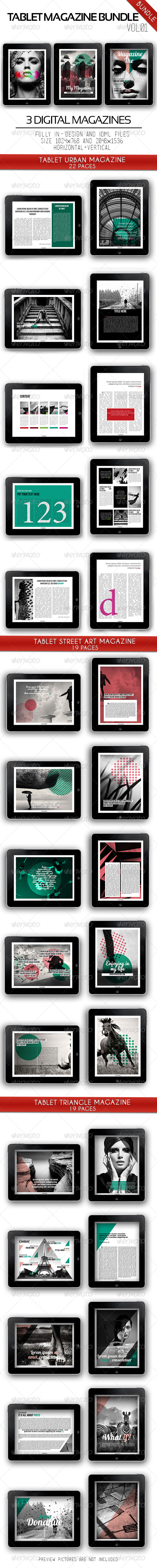 GraphicRiver Tablet Magazine Bundle Vol.01 6379086
