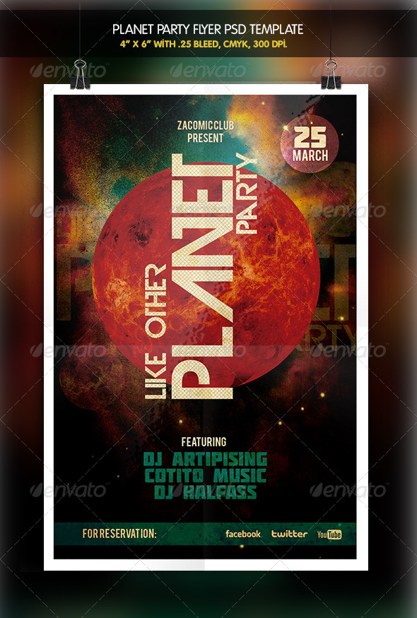 GraphicRiver Planet Party Flyer 6332857