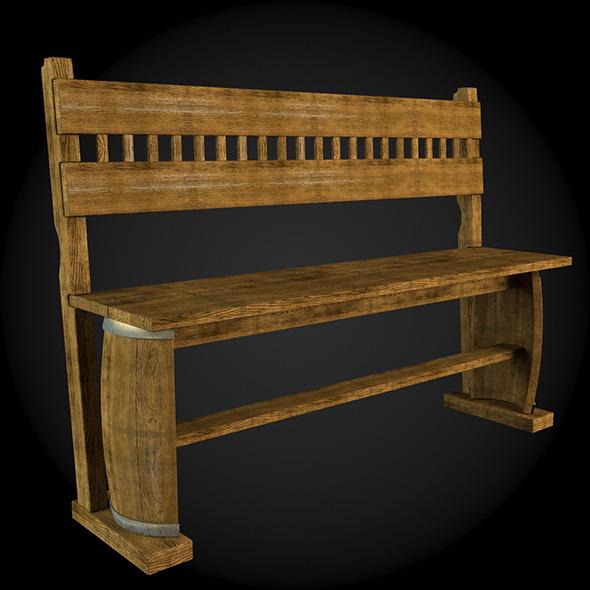 Garden Furniture 020 - 3DOcean Item for Sale