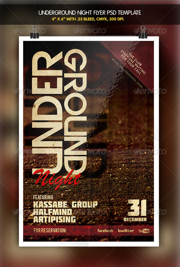 GraphicRiver Underground Party Night Flyer 6332826