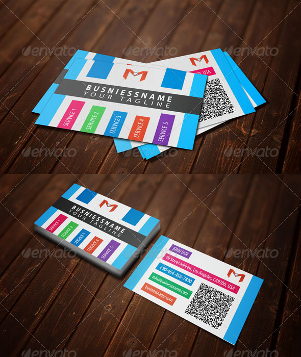 GraphicRiver Multiple Colors Graph Style Business Card 6379257