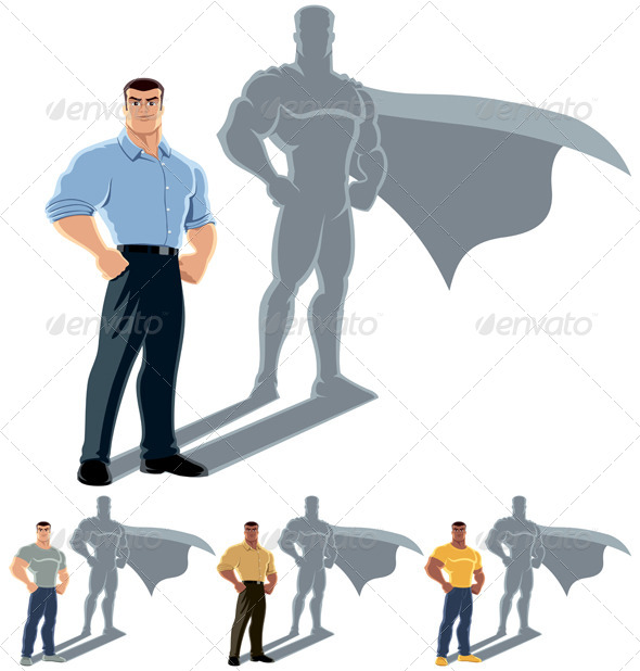 Man Superhero Concept - Concepts Business