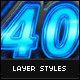 40 Layer Styles - GraphicRiver Item for Sale