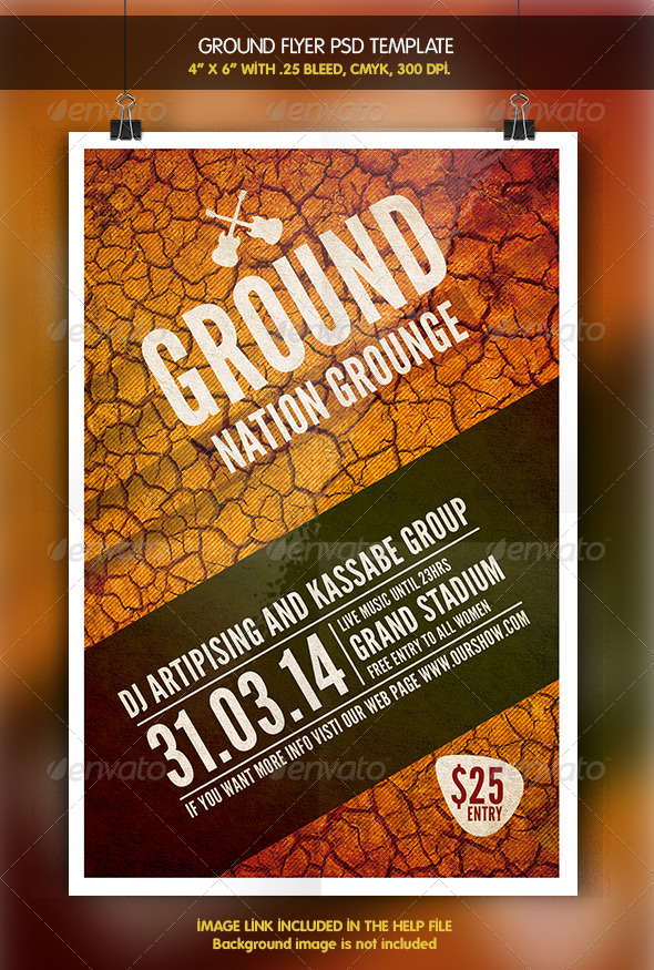 GraphicRiver Ground Party Flyer 6342235