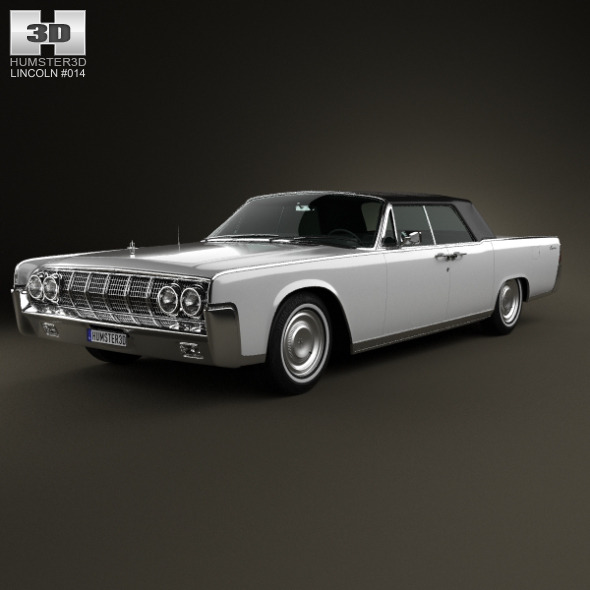 3DOcean Lincoln Continental convertible 1964 6379417