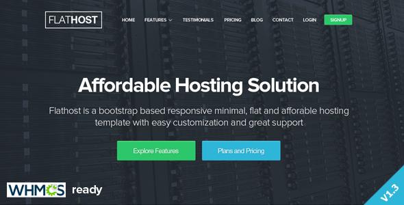FlatHost Responsive Hosting Template - Hosting Technology