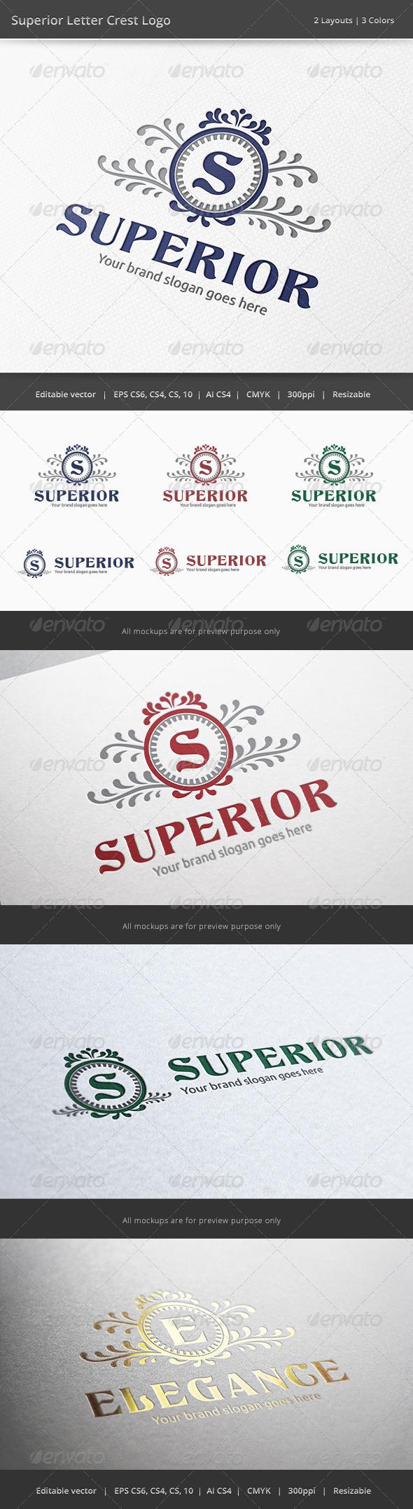 GraphicRiver Superior Letter Crest Logo 6379702