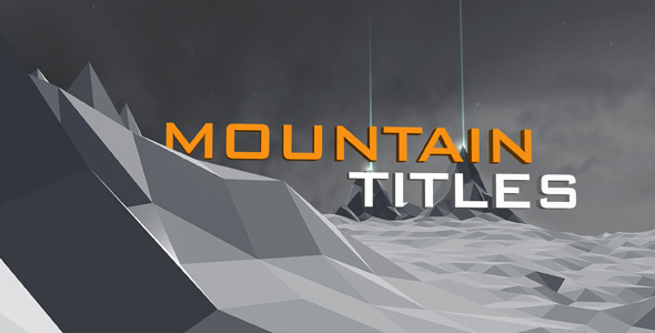 After Effects Project - VideoHive Mountain titles 665803