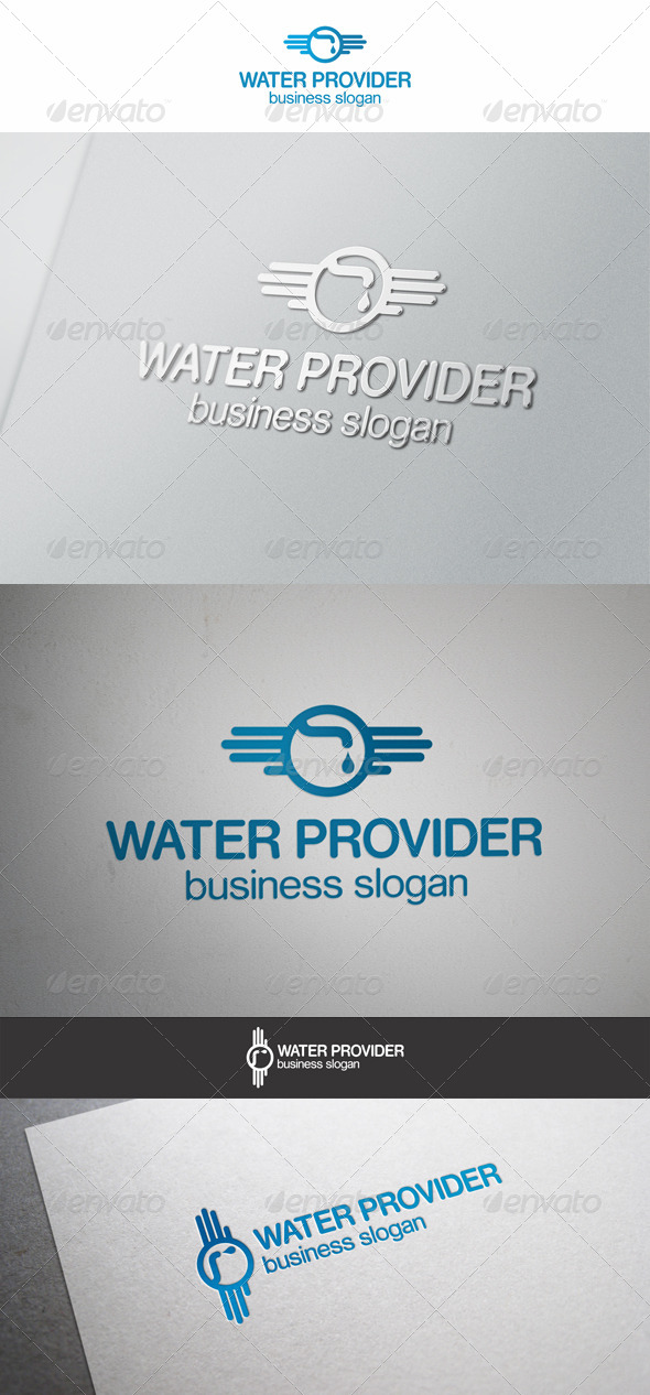 Water Provider Logo - Objects Logo Templates