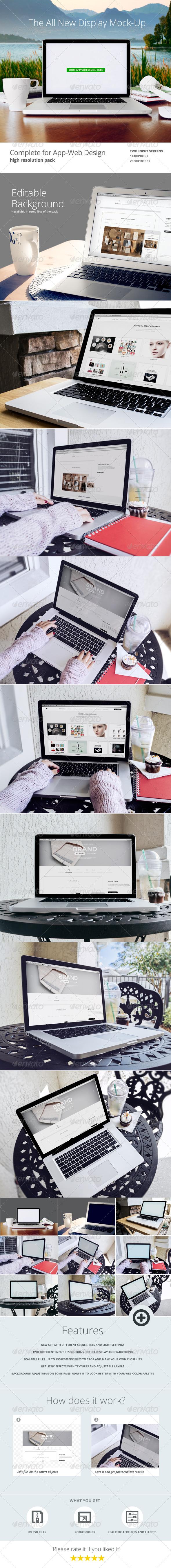 GraphicRiver Laptop Web App Mock-Up 6372840